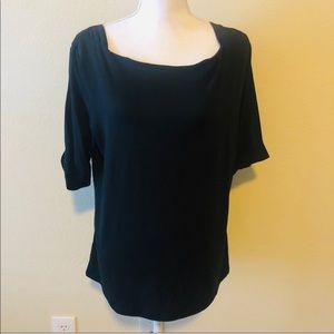 WHBM Black 3/4 sleeve blouse. Size XL